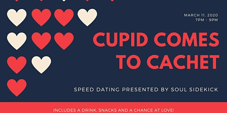 Soul Sidekick Speed Dating: Cupid Comes To Cachet (40-55) tickets