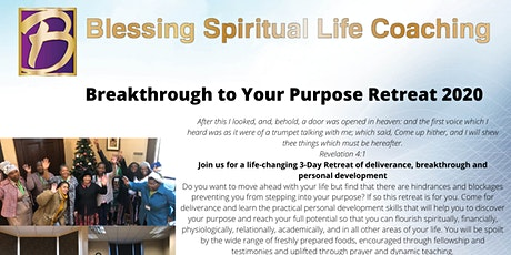 Breakthrough to Your Purpose Retreat 2020 tickets