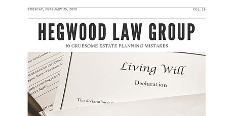 10 Gruesome Estate Planning Mistakes tickets