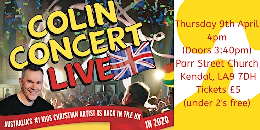 Colin Buchanan's Kids Show LIVE in Concert at Parr Street Church, Kendal