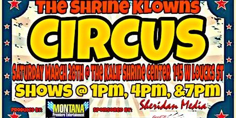 The Shrine Klowns Circus tickets
