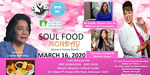 2020 Soul Food Monday Coretta Scott King Women's History Month's Observance