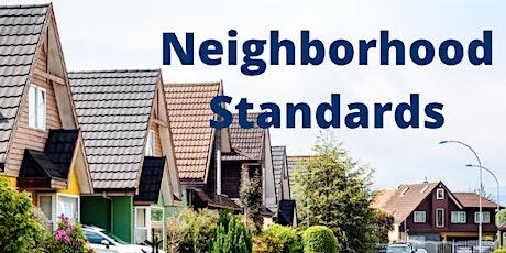 Neighborhood Standards tickets
