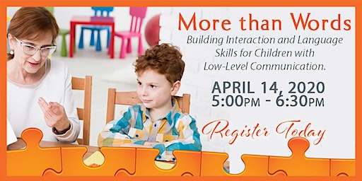 More than Words - Autism & Communication Presentation, April 14, 2020, Kadlec Healthplex