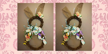 Easter Bunny Grapevine Wreath Making Class and Dinner- Medford Pop Shop tickets