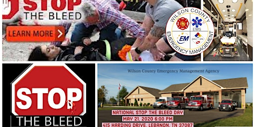 STOP THE BLEED-National Stop the Bleed day May 21st