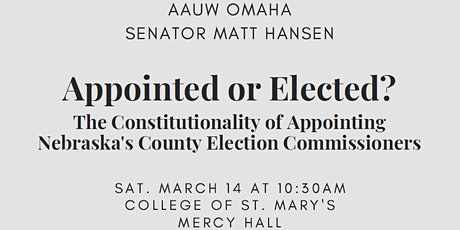 Appointed or Elected? tickets