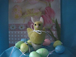 Needle Felted Easter Chick w/Bunny Ears Workshop
