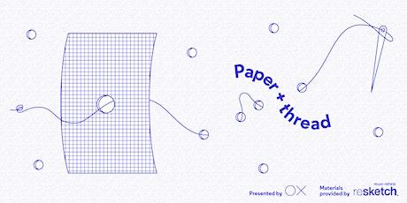 Paper + Thread Bookbinding Workshop tickets