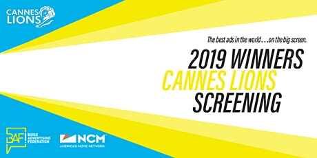 Cannes Lions 2019 Winners Screening tickets