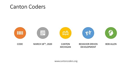Canton Coders' First Meetup with Bob Allen in Canton, Michigan! tickets