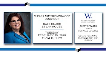 WHW2N - Clear Lake / Bay Area Luncheon