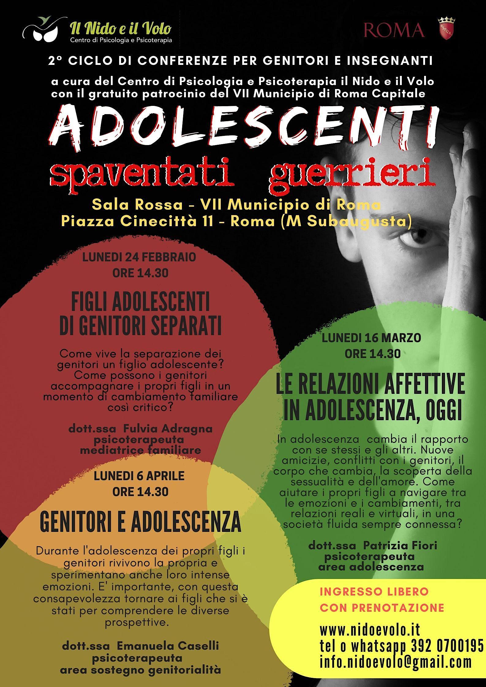 Conferenza gratuita 3 Genitori e adolescenza