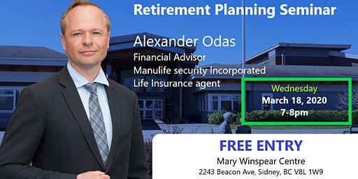 Free Retirement Planning Seminar w/ Alex Odas