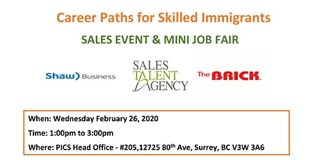 Sales Event & Mini Job Fair tickets
