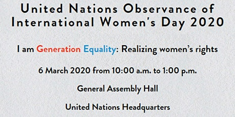 United Nations' Observance of International Women's Day 2020 tickets