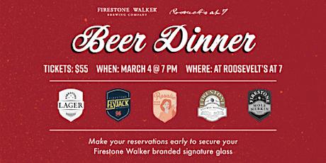 Beer Dinner Featuring Firestone Walker  tickets