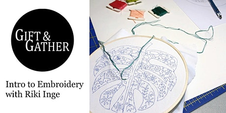 Intro to Embroidery with Riki Inge  tickets