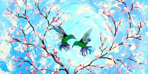 Cherry Blossom with Birds - Art Club Darwin