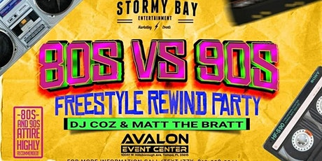 80s Vs 90s Freestyle Party! tickets