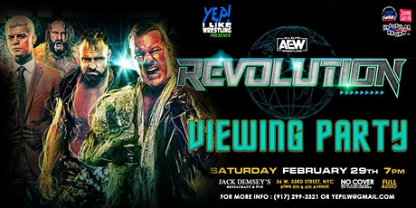 AEW Revolution Viewing Party at Jack Demsey's tickets