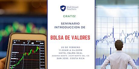 Costa Rica! Seminario Aprenda a invertir en la Bolsa de Valores de USA. entradas