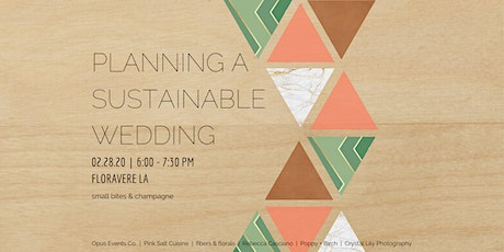 Planning A Sustainable Wedding tickets