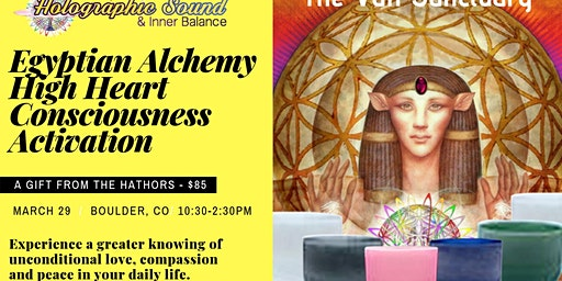 Egyptian Alchemy High Heart Consciousness Workshop
