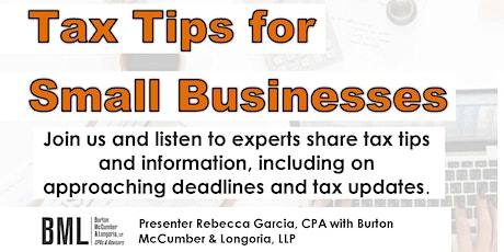 Tax Tips for Small Businesses tickets