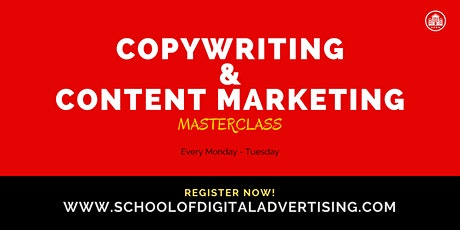 COPYWRITING & CONTENT MARKETING MASTERCLASS tickets