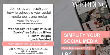 Simplify Your Social Media by Scheduling Your Posts tickets