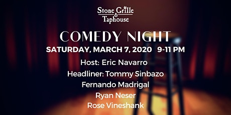 Comedy Night at Stone Grille & Taphouse Show 2 tickets