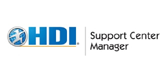 HDI Support Center Manager 3 Days Virtual Live Training in Utrecht