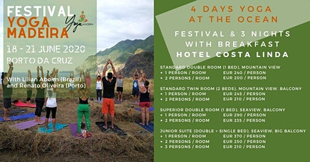 4 days Yoga at Ocean - Costa Linda bilhetes