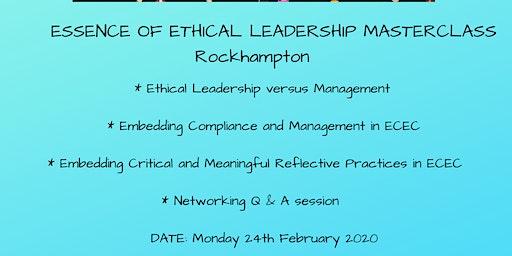 Essence of Ethical Leadership Masterclass Rockhampton