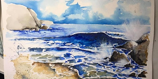 May 2020- Sea and Waves Adult Skill and Subject Art Workshop