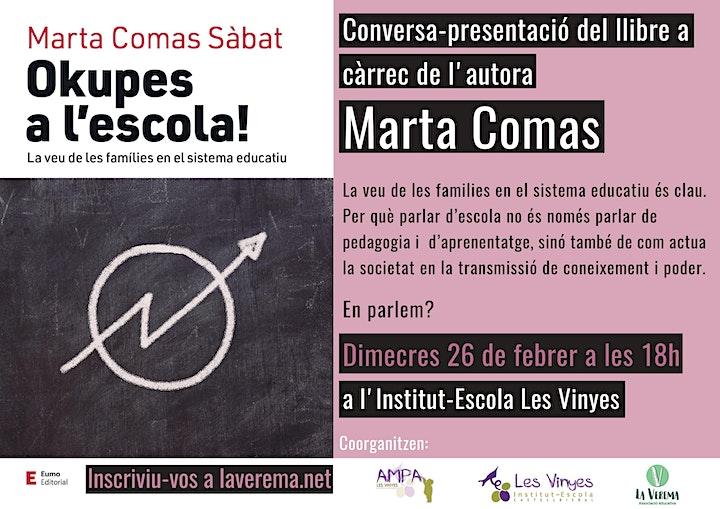 """Imagen de PRESENTACIÓ """"Okupes a l'escola"""" de Marta Comas."""