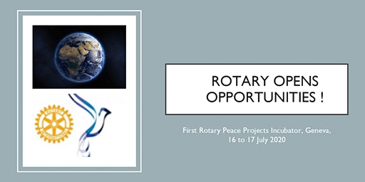 Rotary Peace Projects Incubator