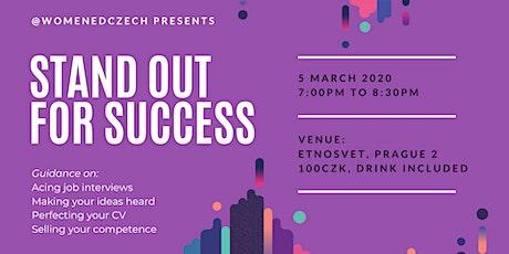 #WomenEdCzech - Stand Out for Success tickets