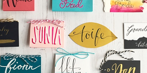 Tombow Brush Lettering with Betty Etiquette