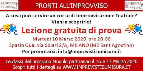 Lezione gratuita Improvvisazione Teatrale biglietti