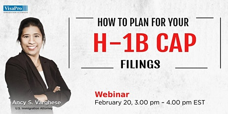 How To Properly Plan For Your H-1B Cap 2020 Filings? tickets