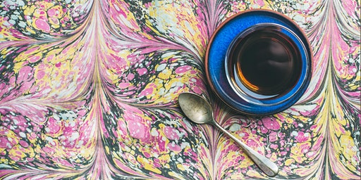 EBRU - Marbling on water - Relaxing evening (+ tea & pastries)
