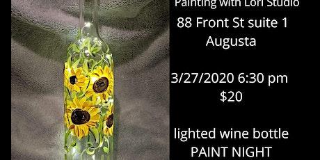 3/27 - Lighted Wine Bottle Paint Night - in Studio biglietti