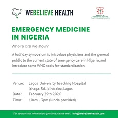 Emergency Medicine in Nigeria - Where are we now? tickets