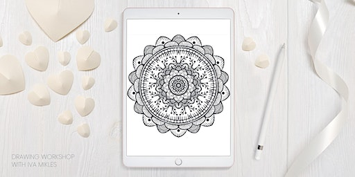 Digital Painting - Mandalas in Yoga studio (Lululemon)