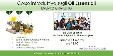 Monteiasi (Taranto) - Corso Introduttivo Gratuito sugli Oli Essenziali biglietti