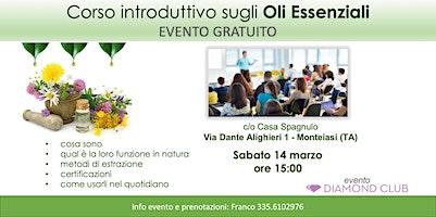 Monteiasi (Taranto) - Corso Introduttivo Gratuito sugli Oli Essenziali