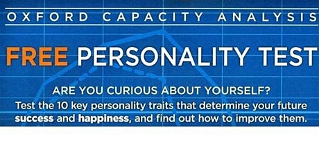 Can you really know the real you? Come and take the free personality test. tickets