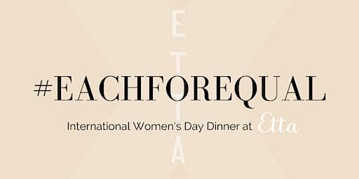 #EachForEqual Wine Dinner at Etta